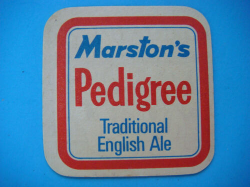 3 ~ Brewed in Burton on Trent ENGLAND Beer Coaster ~ MARSTON/'S Real Ale Mat No
