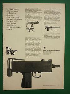 Details about 72-73 pub military armament Corporation ingram m-10 uzi  submachine gun ad- show original title