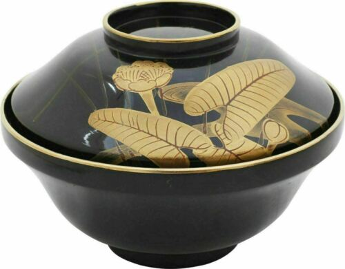 ANTIQUE  JAPANESE LACQUERED BOWL AND COVER OWAN Meiji C.1867-1912.