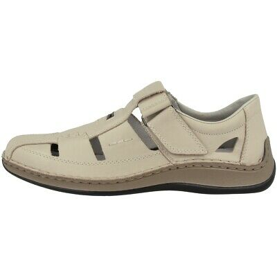 Rieker Newark Schuhe Herren Slipper Freizeit Antistress Halbschuh Cream 05284-60