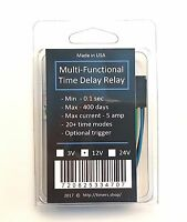 Dc 12v Power On Time Relay Delay Timer 0600 Second