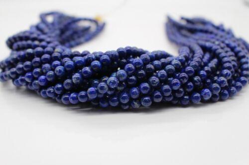 Lapislazuli Stränge Kette Lose Perlen 4mm-10mm   AA Royal Blau Edelsteine Lapis
