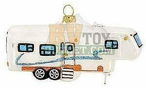 "Fifth Wheel trailer 5/"" 5th Wheel Trailer Glass Christmas Tree Ornament"