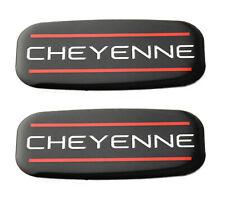 2x Cheyenne Cab Emblem Right Left Badge Roof Pillar For 88 07 Silverado Red