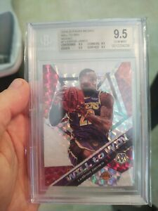 2019-20-Mosaic-Lebron-James-Silver-Prizm-Will-To-Win-BGS-9-5-True-Gem-Lakers