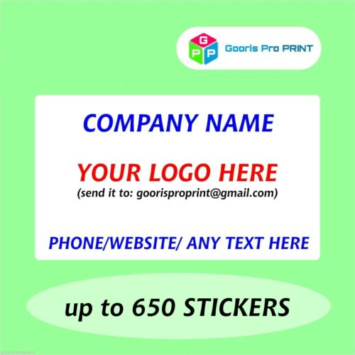 Thank You Personalised Business Name Stickers Envelope Seals Your Logo Labels