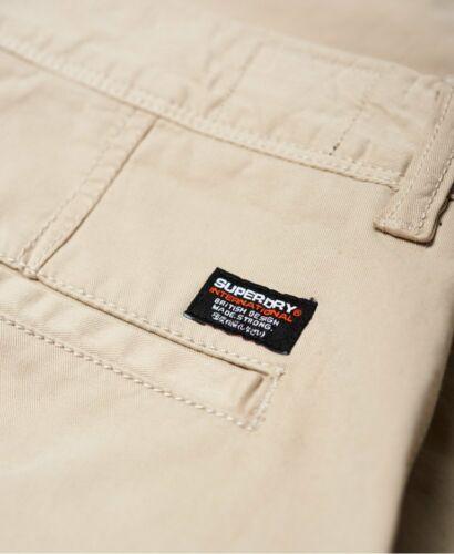 """30/"""" Superdry Men/'s International Chino Shorts Sand Dollar Sizes 38/"""""""