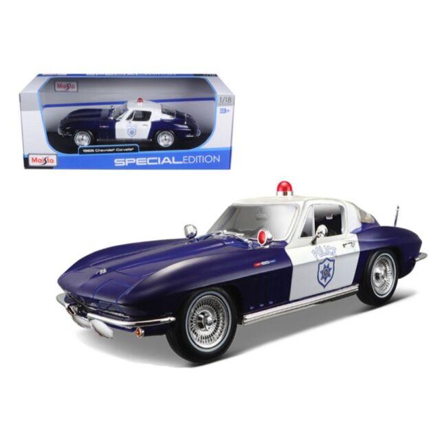 Maisto Special Edition Diecast 1//18 1965 Corvette Police Car