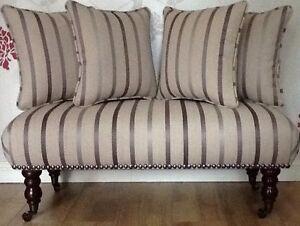 lang fu hocker stuhl 4 kissen laura ashley luxford amethyst stoff ebay. Black Bedroom Furniture Sets. Home Design Ideas
