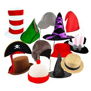 Image is loading Kids-World-Book-Day-Fancy-Dress-Costume-Hats- 7dc0a396f0c