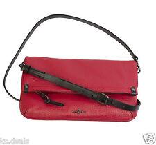 COLE HAAN QUINN CROSSBODY VELVET RED PARKER PEBBLE WOMENS CLUTCH SHOULDER BAG