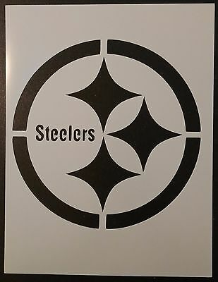 """Pittsburgh Pirates Penguins Steelers 8.5/"""" x 11/"""" Stencil FAST FREE SHIPPING"""