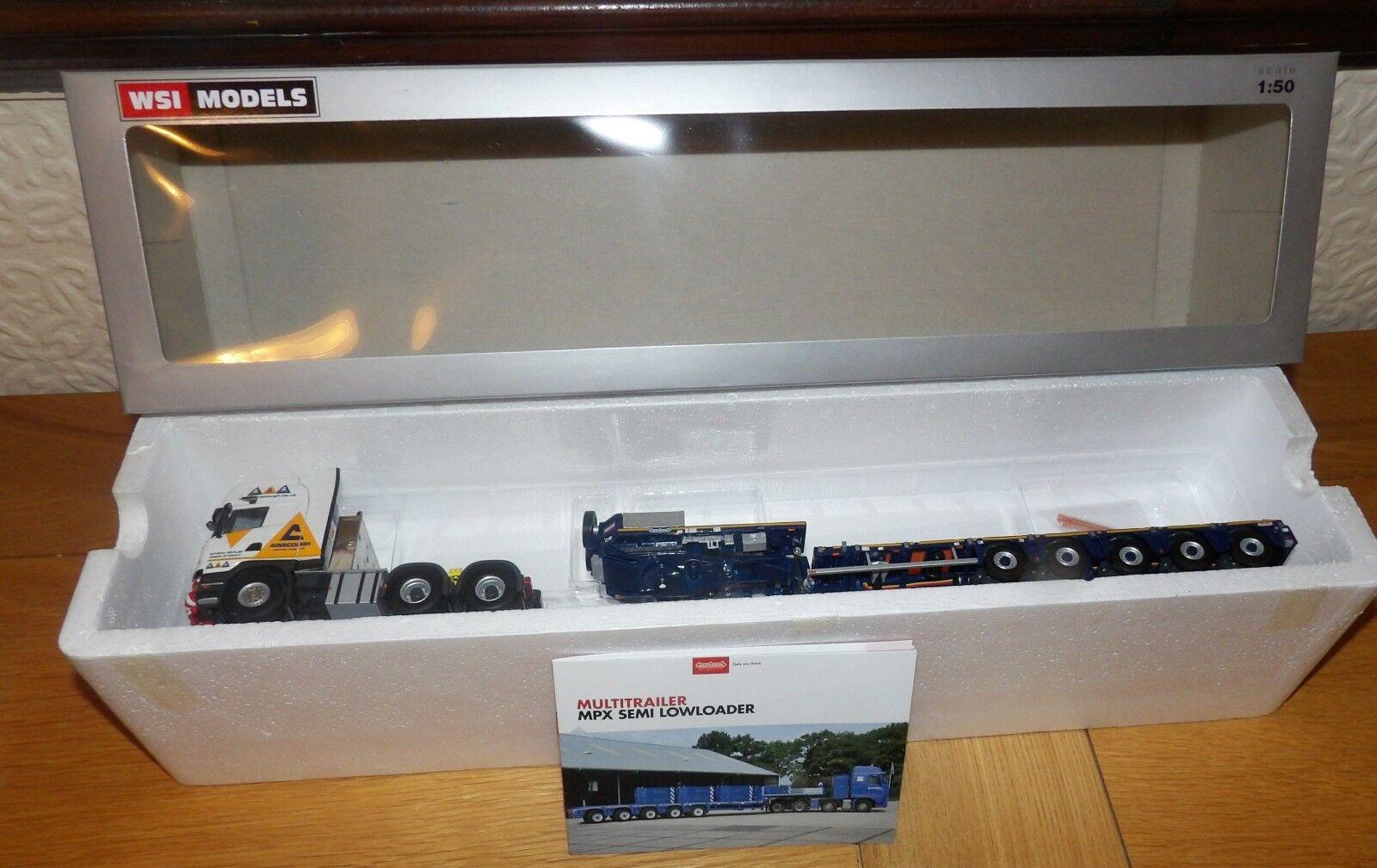 WSI 1.50 Scania Streamline Topline 6x4 Ainscough Crane Hire + 5 Axle Lowloader