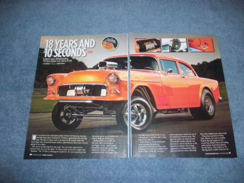 "1955 Chevy 2Door Sedan Gasser Article ""18 Years and 10 Seconds"""