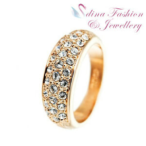 18K-Rose-Gold-Plated-Made-With-Swarovski-Crystal-Studded-Band-Eternity-Ring