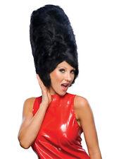 Ladies Amy Winehouse Black Beehive Wig Pop Star Hippie Fancy Dress Accessory New