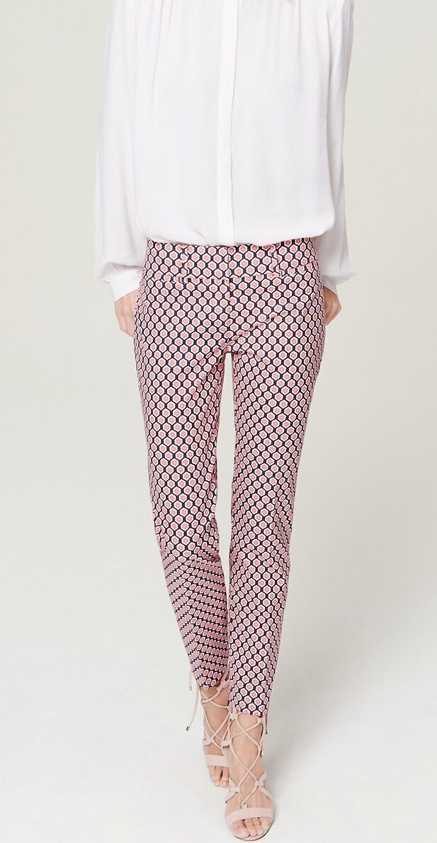 Ann Taylor LOFT Geo Riviera Cropped Pants in Marisa Fit Various Sizes NWT