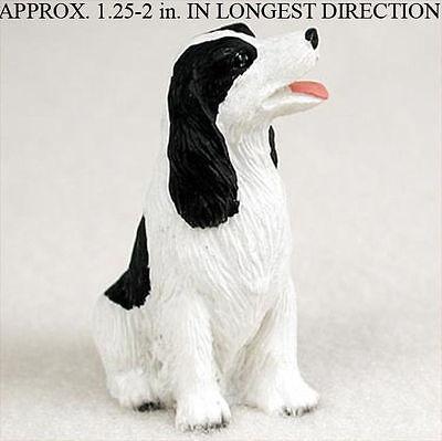 Springer Spaniel Mini Resin Hand Painted Dog Figurine Statue Blk