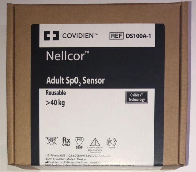 Covidien Nellcor DS100A-1 Adult SpO2 Sensor-Original w Packing