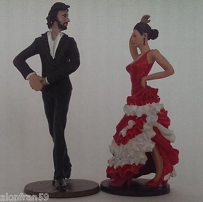 9 cms de altura. - Figura en plomo Bailaor y Bailaora Flamencos