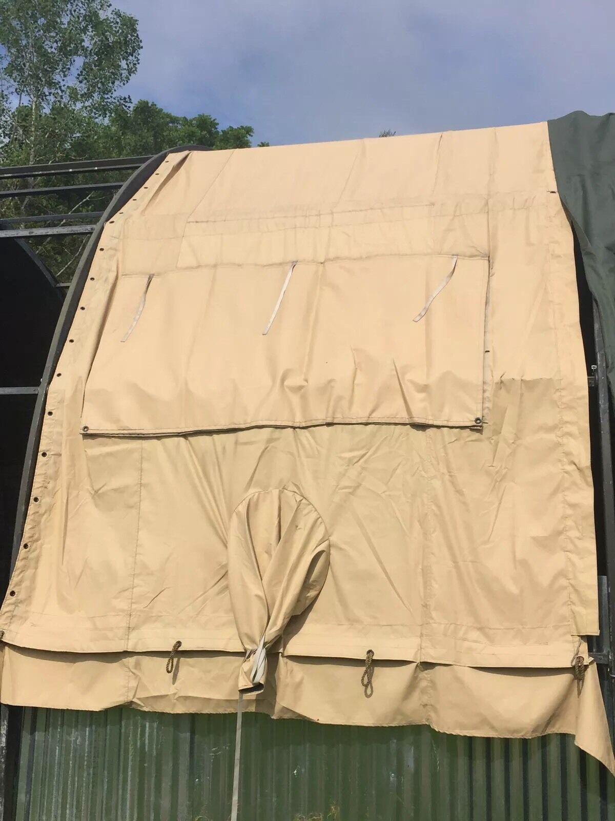 Temper Tent Window Center Abschnitt Temperierte Wüste Tan Vinyl Tarp NOS