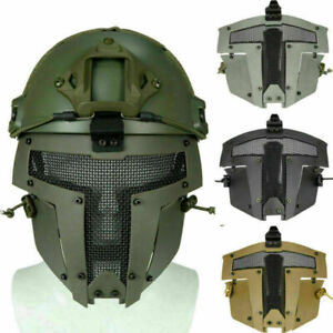 Paintball Airsoft Nylon Helm Maske Sparta Vollmaske Metall Mesh Cover Schutz NEU