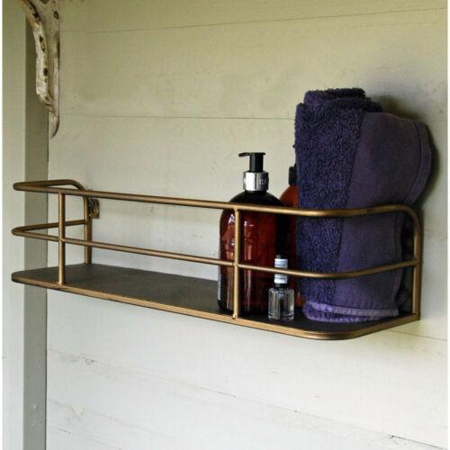 Paroi simple Étagère industrielle bronze métal stockage vitrine salle de bain Rack Nouveau