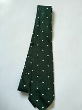 PAUL SMITH Silk TIE - Green with hearts - Polka Lining - 9cm Blade - BRAND NEW