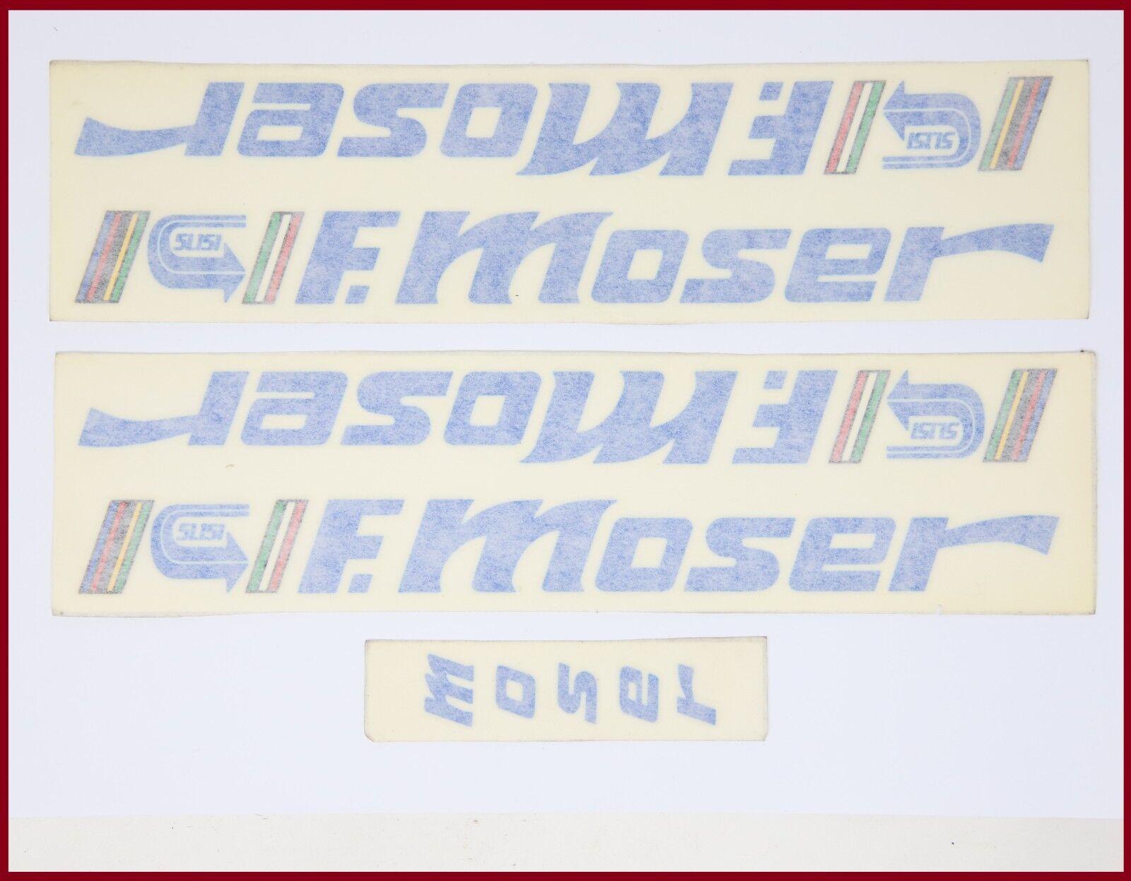 Nuevo viejo stock original MOSER 51.151 Decal Set 80S Vintage-Azul