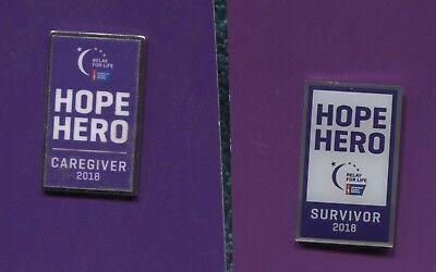 Survivor /& Caretaker Relay for Life Lapel PINs