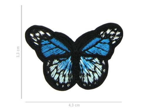 Ecusson Thermocollant Brodé papillon Patch Appliqué Broderie Coudre Vêtement