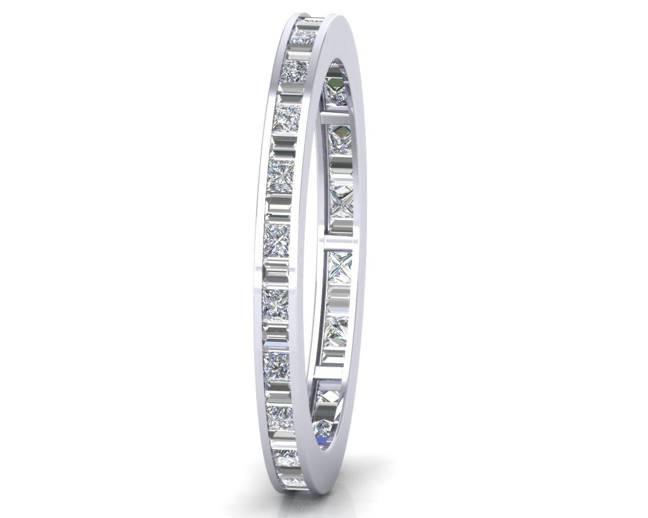 0.50ct Baguette & Princess Diamonds Full Eternity Wedding Ring,gold & Platinum
