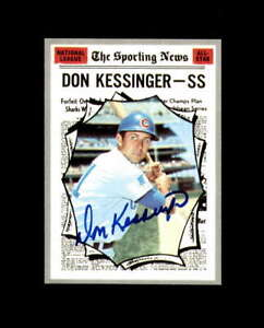 Don Kessinger Hand Signed 1970 Topps All Star Chicago Cubs Autograph