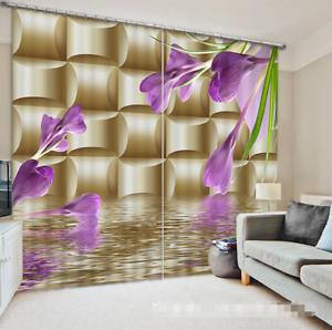 3D Flores Lago Blockout Cortina Cortinas de impresión de fotografías nos Ventana De Tela Cortinas