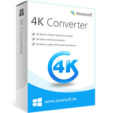 4k Video Converter WIN Aiseesoft dt.Vollversion-lebenslange Lizenz Download