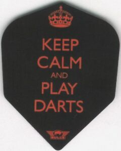 """Keep Calm and Play Darts"" Dart Flights: 3 per set"