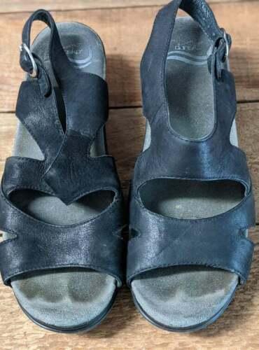 Dansko Black strappy sandals size 40