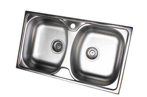 Edelstahl Küchenspüle Edelstahlspüle Einbauspüle Spüle 2 Spülbecken Doppelbecken