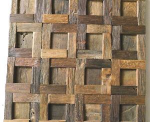 Wood wall tile wood wall decor mosaic tiles rustic tiles