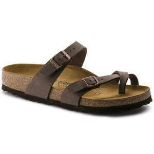 Birkenstock Mayari Brown Regular Fit Womens Ladies Toe Post Sandals Size 3-8