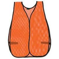 2 Blaze Orange Hunting Vest - One Size - Stay Visible - Economical Ships Quick