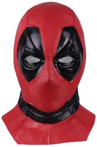 Deadpool 2 Wade Cosplay Kostüm Rot Outfit Halloween-Anzug Karneval Maske