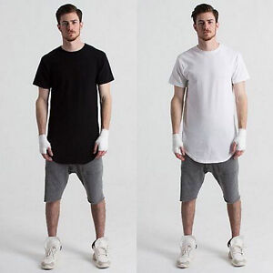 Fashion Men Hip Casual T-shirt Short Sleeve Loose Slim Fit Tee ... b8b83fc04d0