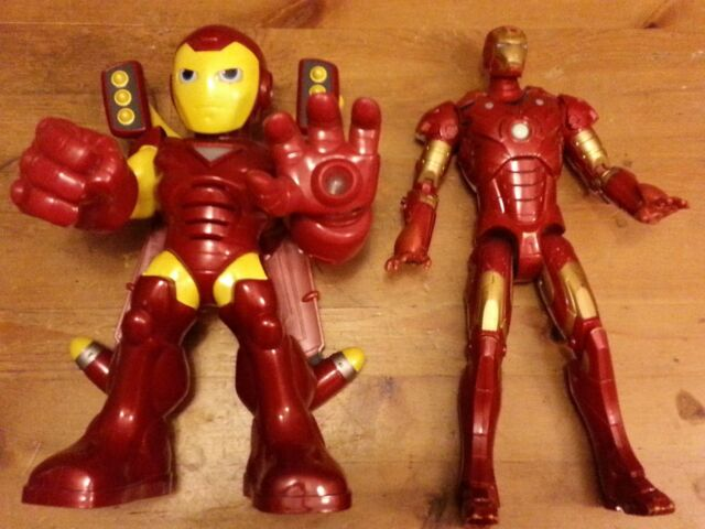 2-piece Lot of Super Hero Squad/Marvel Iron Man -  Talking, Action Figures