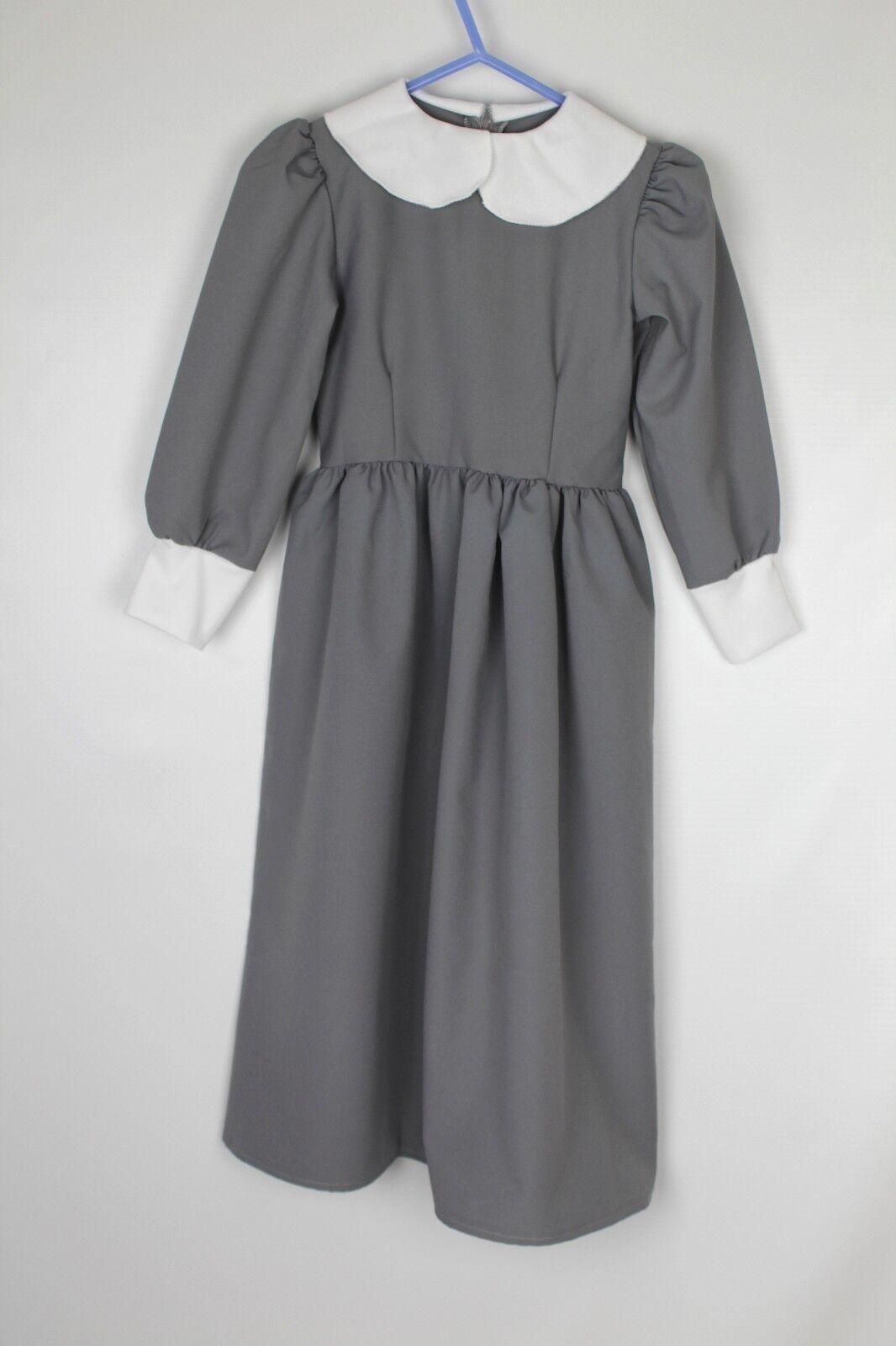Girls Tudor Pilgrim Fancy Dress Costume Medium Child (3)