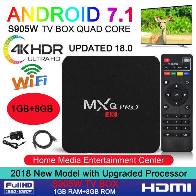 UK Ultra 4K MXQ Pro Quad Core Android TV Box KODI HD Sports 3D Media Player 2019