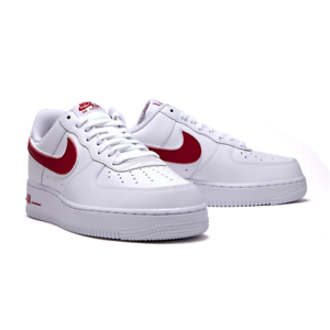 1689a39137c5 Nike Men s Air Force 1 07 3 Low leather White Red AO2423-102 Size 5 ...