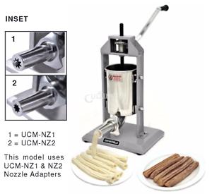 New-Uniworld-Economy-Churro-Machine-5-LB-Two-Nozzles-Adapters-UCM-STV3