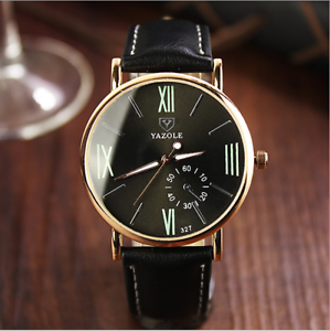 Luxury-Ultra-Thin-Slim-Genuine-Leather-Men-039-s-Analog-Quartz-Wrist-Watch-Fashion