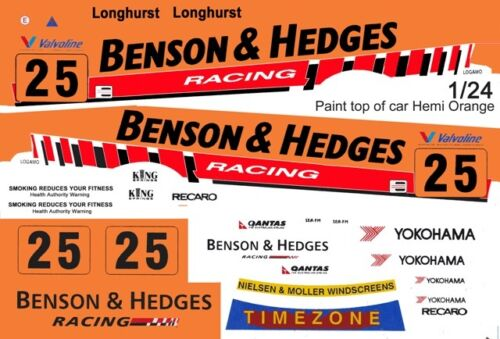 1//25th Scale Waterslide Decals #25 Racing BMW Longhurst 1//24th